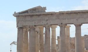 Parthenon beskuren detalj sv